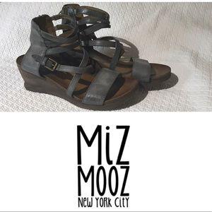 Miz Mooz I Shay Leather Wedge Sandal 40 9 9.5 10